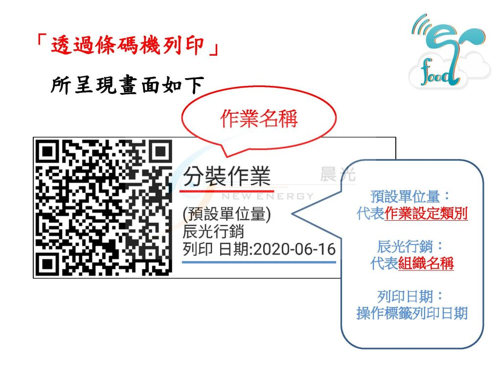 列印作業QR Code